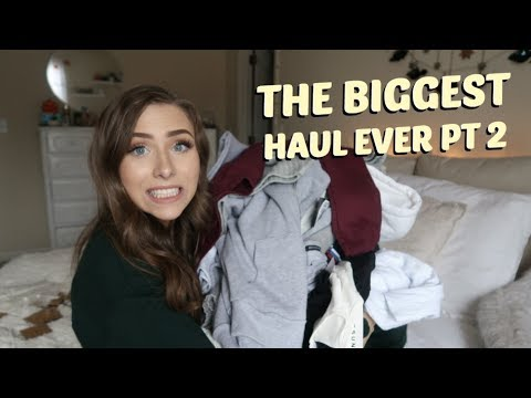 HUGE FALL LA TRY ON HAUL | BRANDY MELVILLE, TOPSHOP, & MORE + GIVEAWAY