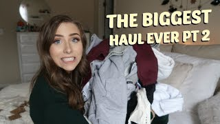 HUGE FALL LA TRY ON HAUL   BRANDY MELVILLE, TOPSHOP, & MORE + GIVEAWAY