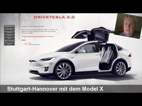 Roadtrip Stuttgart-Hannover mit dem Model X (Planung)