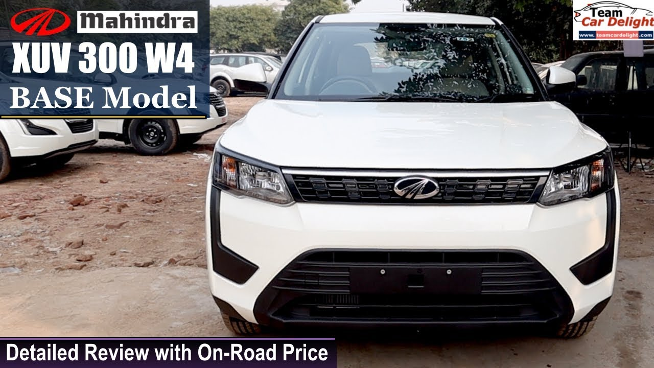 Mahindra Xuv 300 Base Model W4 Detailed Review With On Road Price