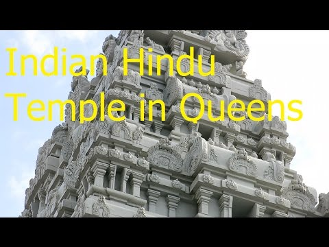 A Beautiful Hindu Temple and Vegetarian Canteen in Flushing, Queens NY - 4k