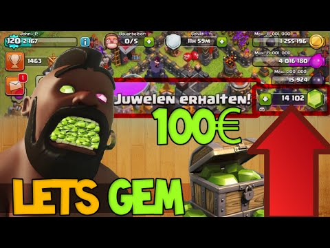 Clash of Clans deutsch - 14 000 GEMS auf den Kopf hauen! YAY