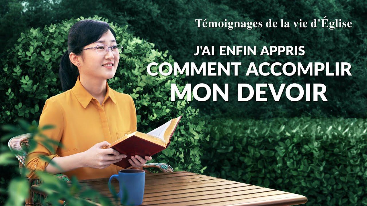 Témoignage chrétien en français 2020 « J'ai enfin appris comment accomplir mon devoir »