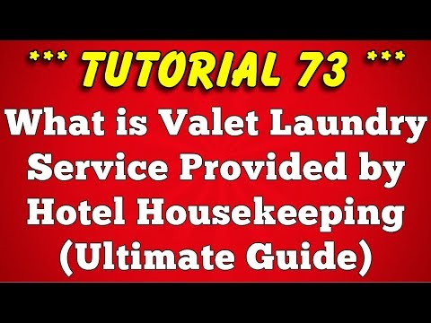 Valet Laundry Service in Hotel & Resort (Ultimate A to Z Guide)