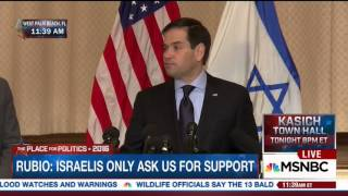 Marco Discusses His Commitment To Stand With Israel | Marco Rubio for President