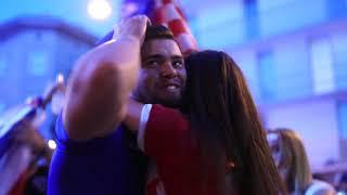 WM 2018 Kroatien gegen England: Kroaten feiern Finaleinzug in Ottakring