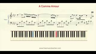 "How To Play Piano: Richard Clayderman ""A Comme Amour"" ""Les Fleurs Sauvages"" Piano Tutorial by Ramin"
