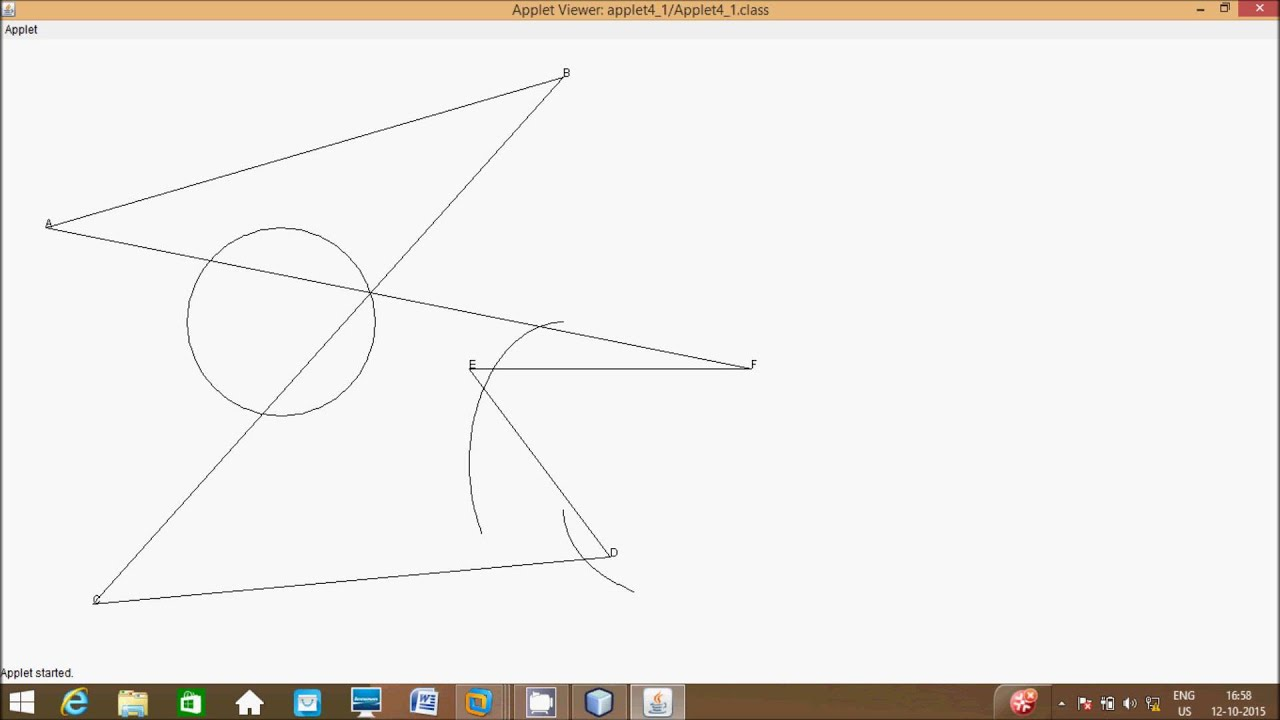 Drawing Lines Java Applet : Java applet draw arc drawing polygons graphics in