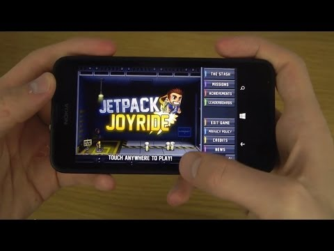 Jetpack Joyride Nokia Lumia 630 Windows Phone 8.1 HD Gameplay Trailer