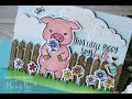 Honey Bee Stamps | Pinky the Pig Hello Card
