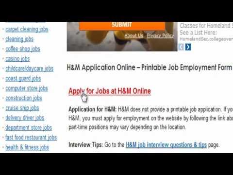 H&M Job Application Online