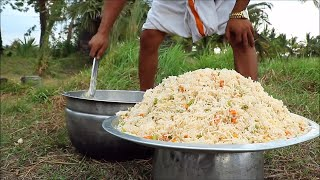 Veg Fried Rice Recipe   Cooking & Eeating delicious I Village Food Channel