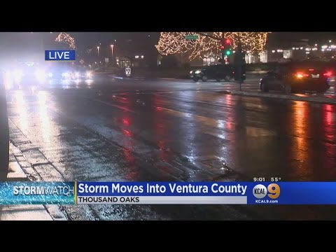 Storm Moves Into Ventura County