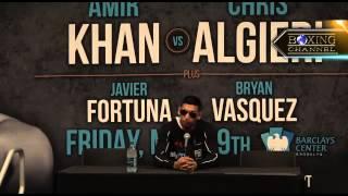 Amir Khan gets UD win over Chris Algieri, post fight press conference.