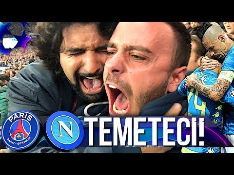 TEMETECI!!! PSG 2-2 NAPOLI | LIVE REACTION TIFOSI NAPOLETANI PARCO DEI PRINCIPI HD