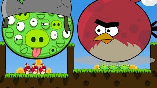 Angry Birds Cannon 3 - RED TERENCE FORCE AND BLAST THE 100 EYE ALIE...