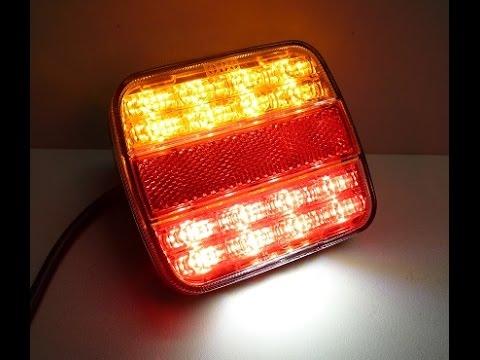 Lampa Tylna Diodowa Do Przyczepy Lawety L1816