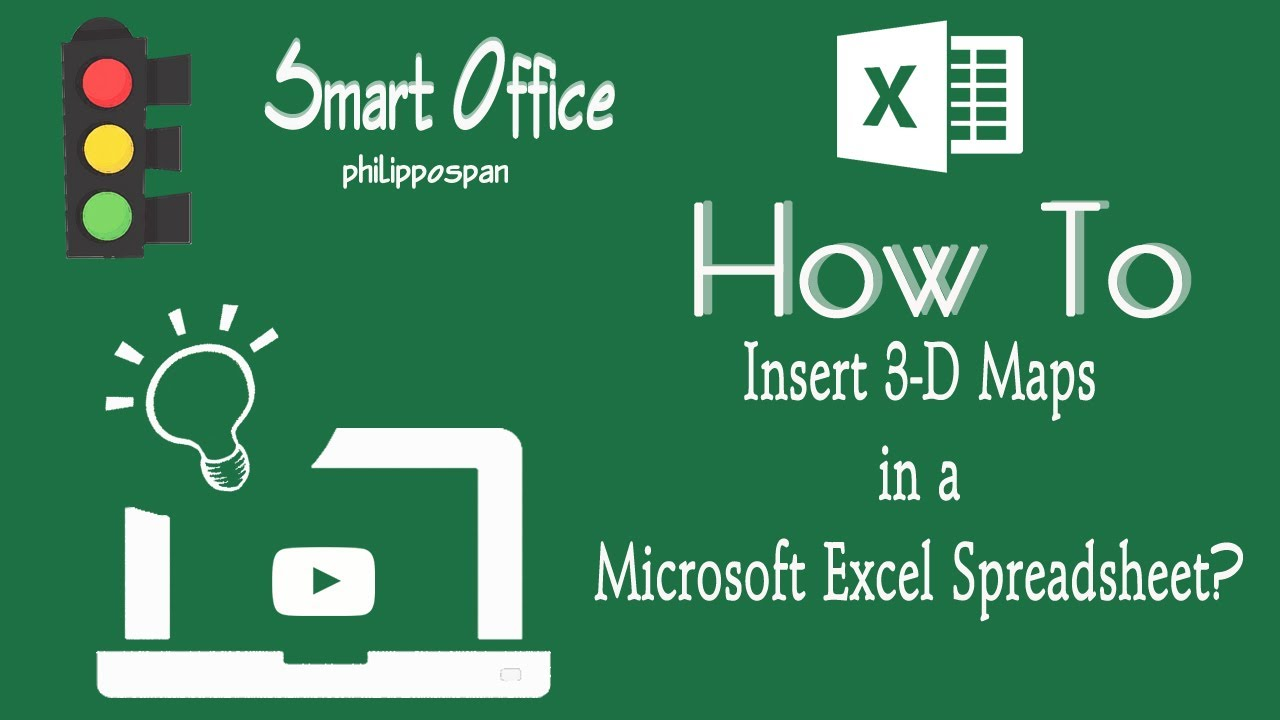 How To Insert 3D Maps in Excel 2016 Map Insert on connect map, line map, find map, read map, map with inset map, search map, create map, move map, change map, legend on a map, view map, make your own wedding map, data map, inner map, esc map, open map, locate map, add map, locator map,