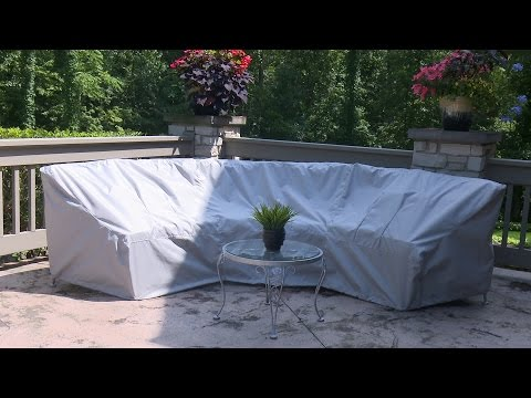 How to Make a Cover for a Curved Patio Set - Sewing Outdoor Furniture Covers