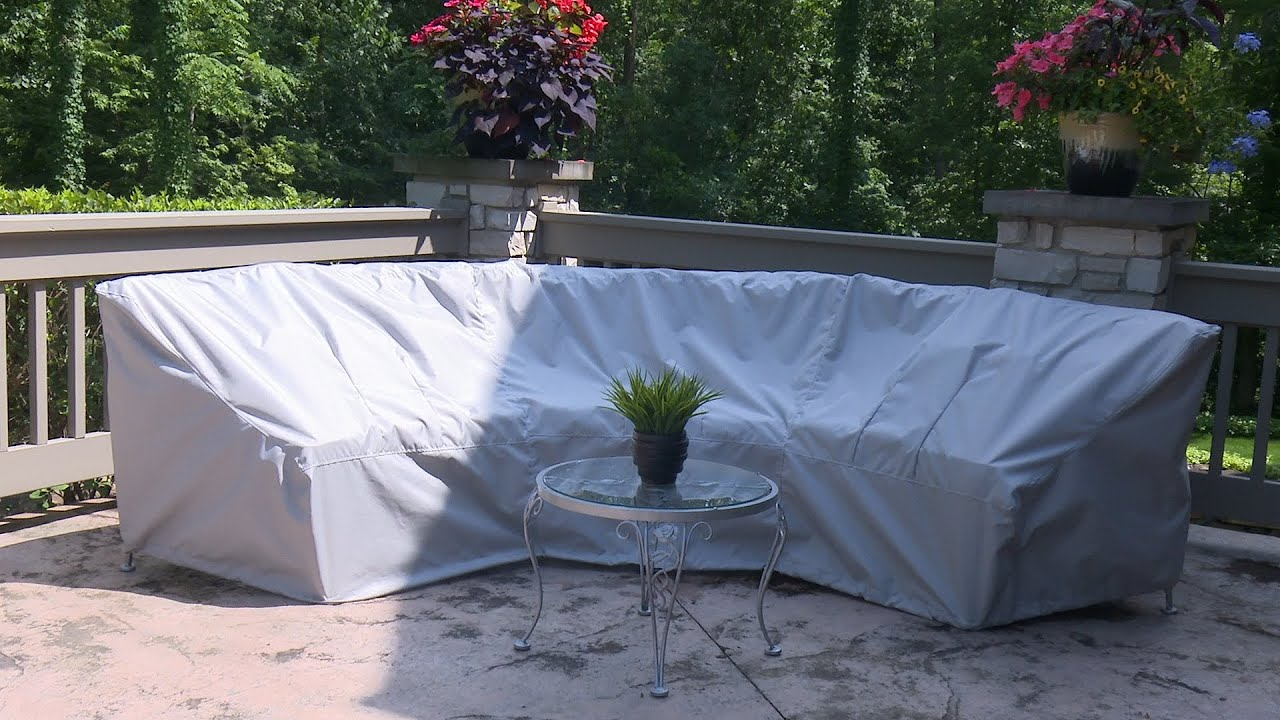 How to make a cover for a curved patio set sewing for Covered deck furniture