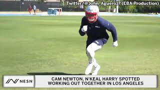 Cam Newton Throws Passes To N'Keal Harry In Los Angeles Workout Session