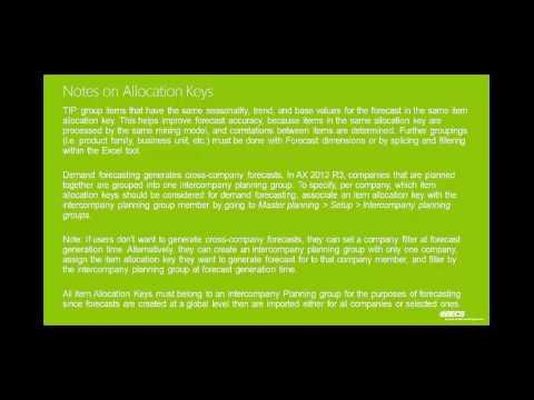 Microsoft Dynamics AX Demand Forecasting