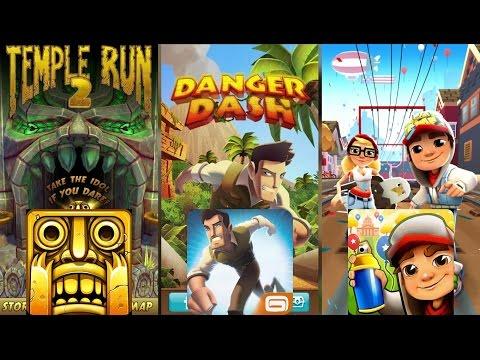 Temple Run 2 Vs Danger Dash Vs Subway Surfers Gameplay - Temple Run Like Games