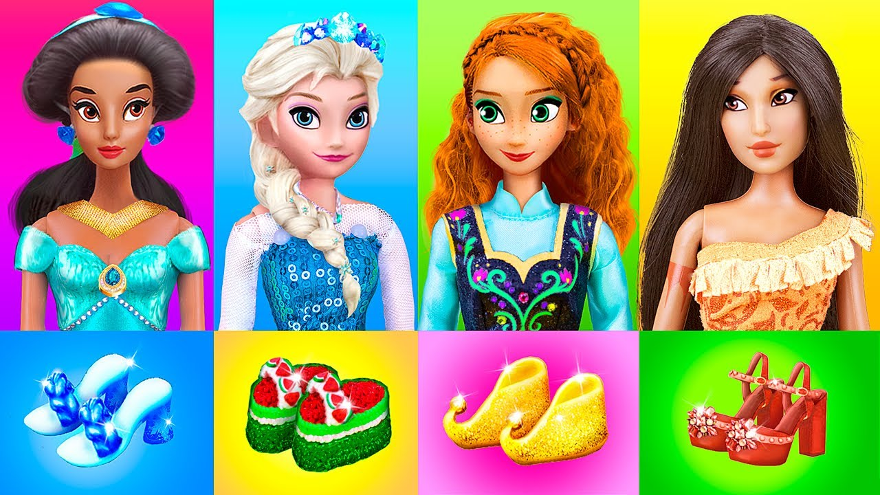 Disney Princesses Hacks and Crafts / Miniature Shoes DIYs