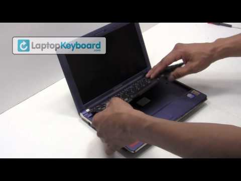 Samsung Laptop Keyboard Installation Replacement Guide - Remove Replace Install - NC10 NC