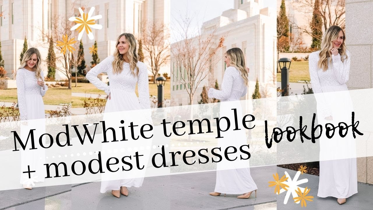 [VIDEO] - FASHION || ModWhite lookbook // temple + modest dresses 4