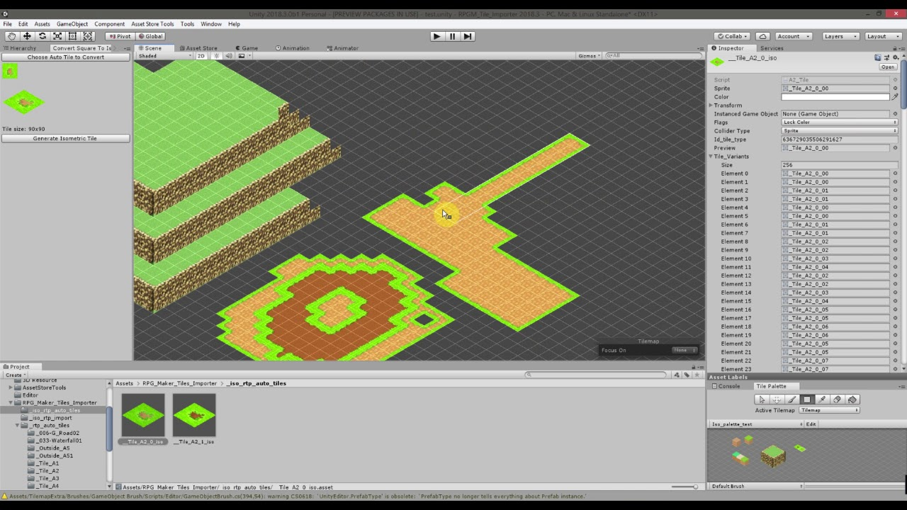 Unity 2d Grid Map