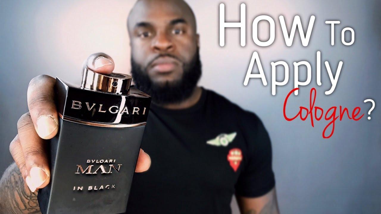 where do guys spray cologne