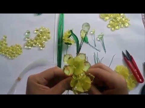 Hướng dẫn làm hoa mai Pha lê nhanh chỉ 10 phút