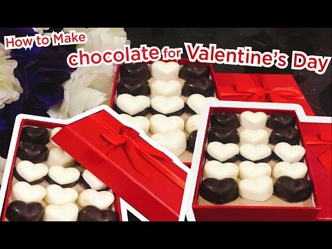 How to Make chocolate for Valentine's Day | Cách làm sôcôla đơn giản