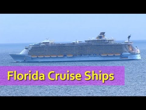 Cruise Ships At Fort Lauderdale  YouTube