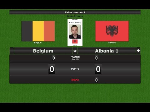 Snooker Team Men Groups : Belgium vs Albania 1