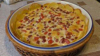 Вкусный и быстрый завтрак или ужин в духовке Картофельная пицца Просто и доступно Potato Pizza