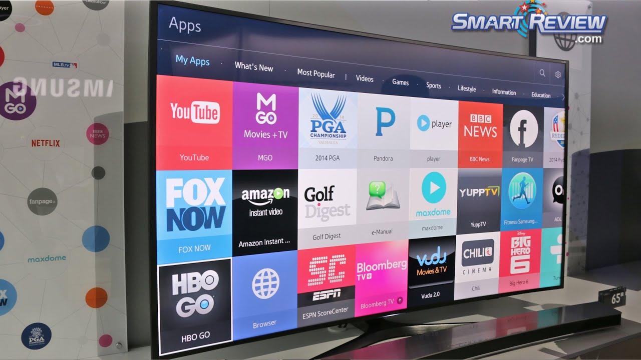 Best Smart Hub Apps Ces 2015  Samsung 4K Tvs Smart Content Demo For 2015 Tvs  Tizen .