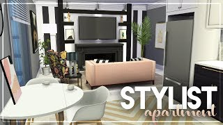 YOUNG STYLIST'S 1-BEDROOM APARTMENT + TOUR + CC LINKS | The Sims 4 Apartment Speed Build
