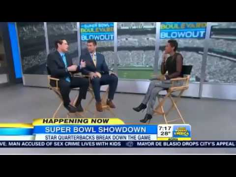 Skip Bayless & Tim Tebow Talk Super Bowl Predictions and Memorable Moments From Season - D