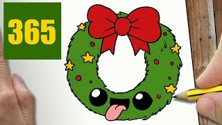 HOW TO DRAW A WREATH CUTE, Easy step by step drawing lessons for kids