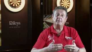 Eric Bristow and Darts Practice Rings