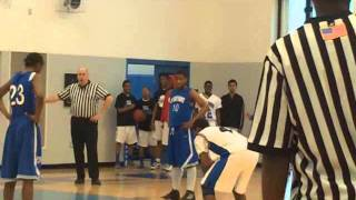 high school basketball game 2 players vs 5 players overtime and almost lost
