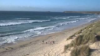 High Tide at St Ives Bay Hayle Cornwall