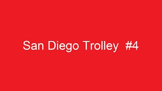 San Diego Trolley at 24th Street Station in National City, California on April 24, 2008