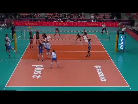 Martyna Grajber OUTSIDE HITTER Polish Cup 2018 nr 20 navy blue shirt