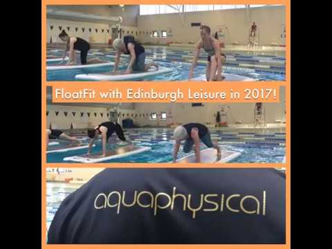 FloatFit with Edinburgh Leisure. Are you game enough to workout on water?
