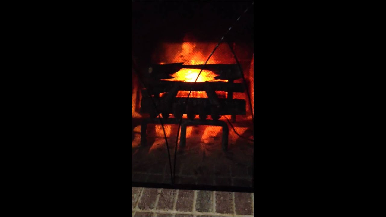 Video of electric crackling log.