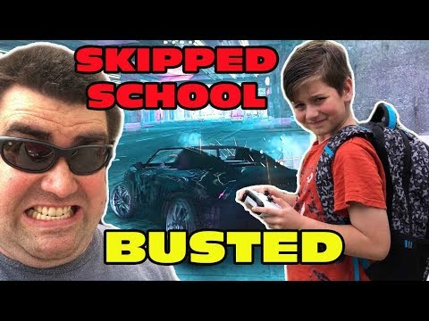 Kid Temper Tantrum SKIPPING SCHOOL to Play GTA 5- BUSTED!!