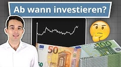 Mit 50€ an der Börse in Aktien investieren? Oder lieber sparen und warten?